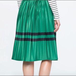 Eloquii sunburst Midi Skirt with block stripes